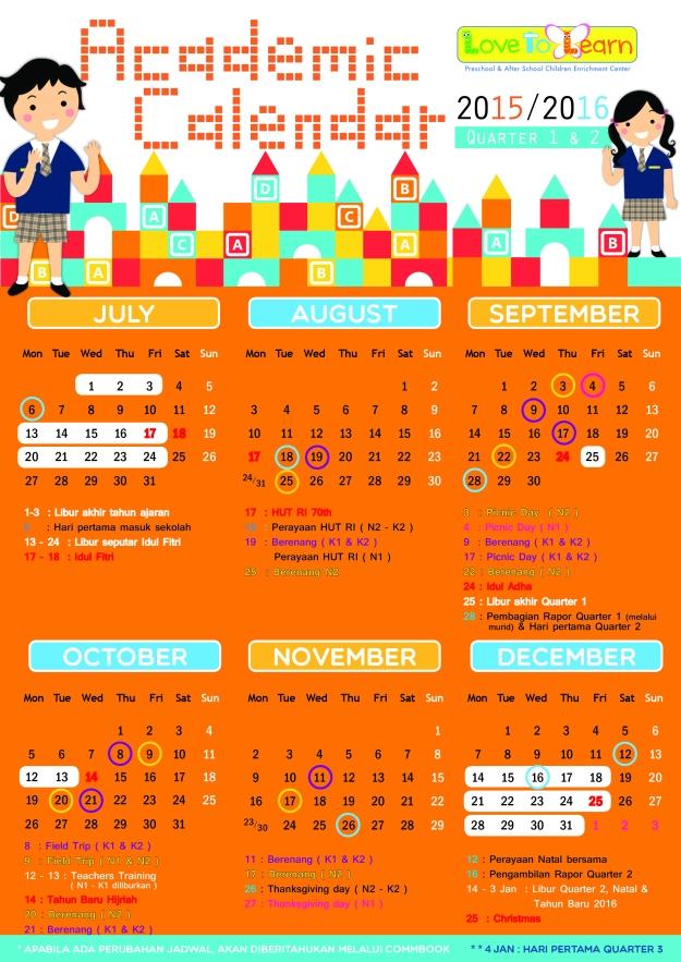 Kalendar L2L - 2016