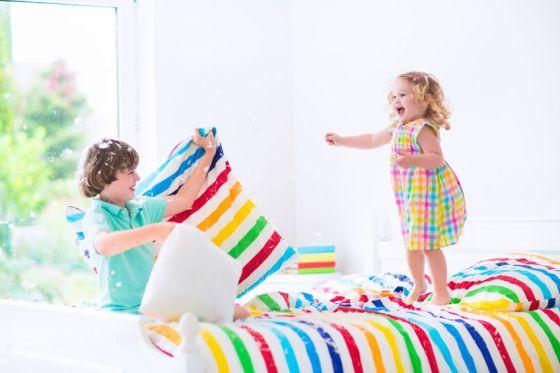 Jumping on the bed - gomerblogdotcom